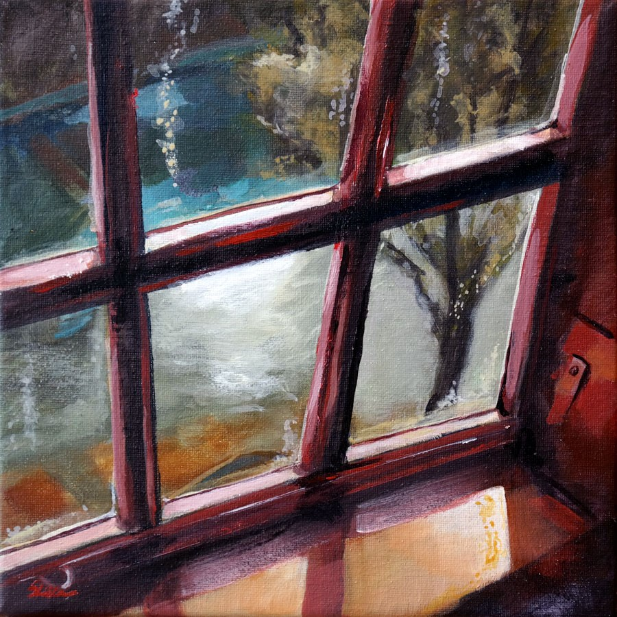 """1296 Through the Window"" original fine art by Dietmar Stiller"