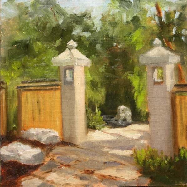 """""""Gates to the Garden"""" original fine art by Jane Frederick"""