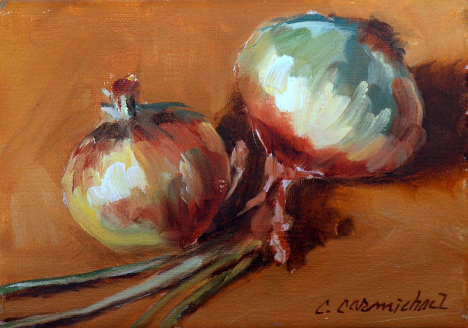 """""""onions # 1"""" original fine art by Carol Carmichael"""