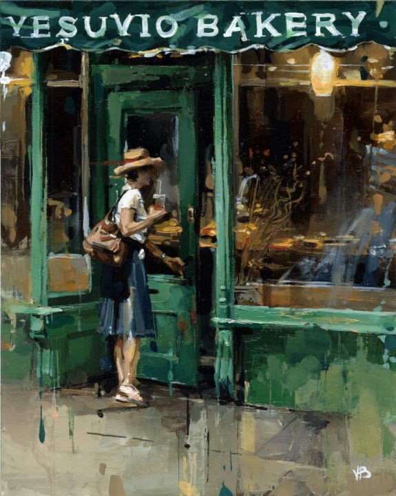 """Vesuvio Bakery"" original fine art by Victor Bauer"