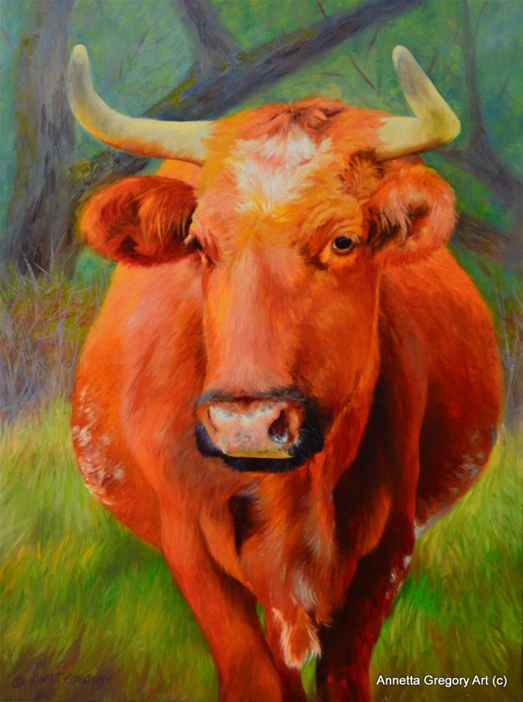 """Ol' Red"" original fine art by Annetta Gregory"