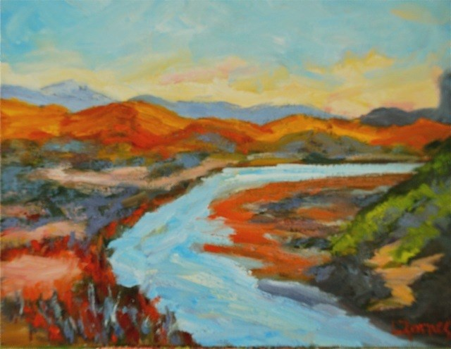 """Rio Grande at Big Bend National Park"" original fine art by Liz Zornes"