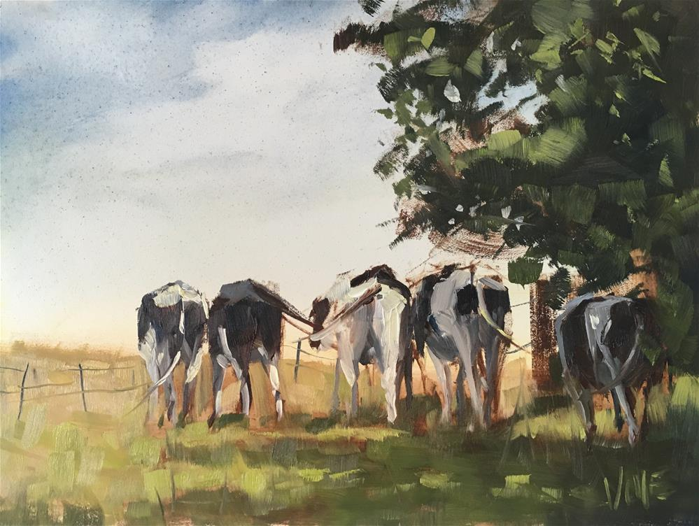 """#290 Cow Caucus"" original fine art by Patty Voje"