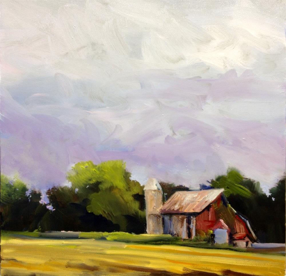 """""""Balm Beach Barn"""" original fine art by Cathy Boyd"""