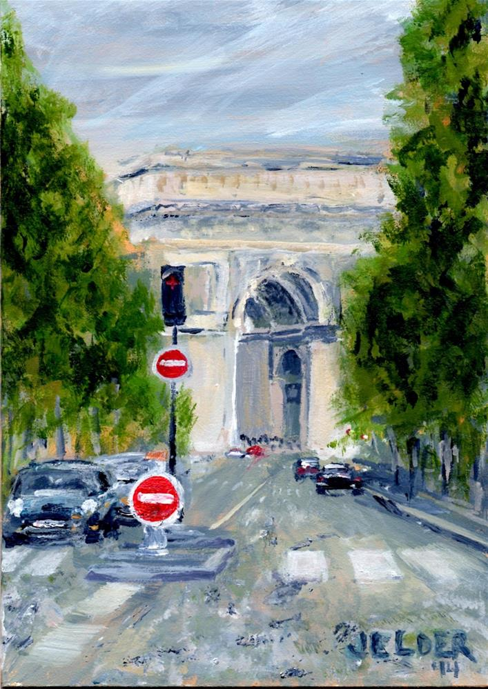 """Paris No. 26"" original fine art by Judith Elder"
