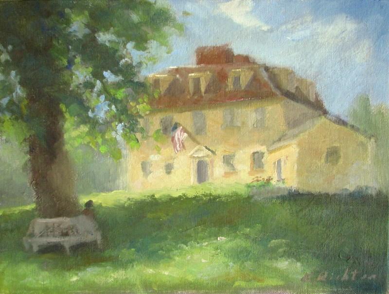 """Buckman Tavern, Lexington"" original fine art by Keiko Richter"