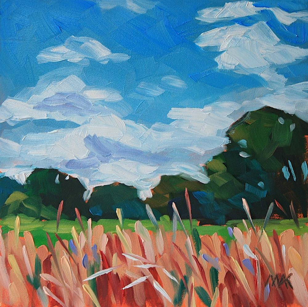 """In the Field"" original fine art by Mary Anne Cary"