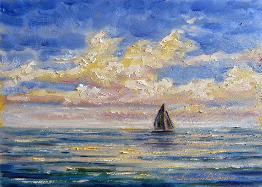 """Sailing Serenade"" original fine art by Tammie Dickerson"
