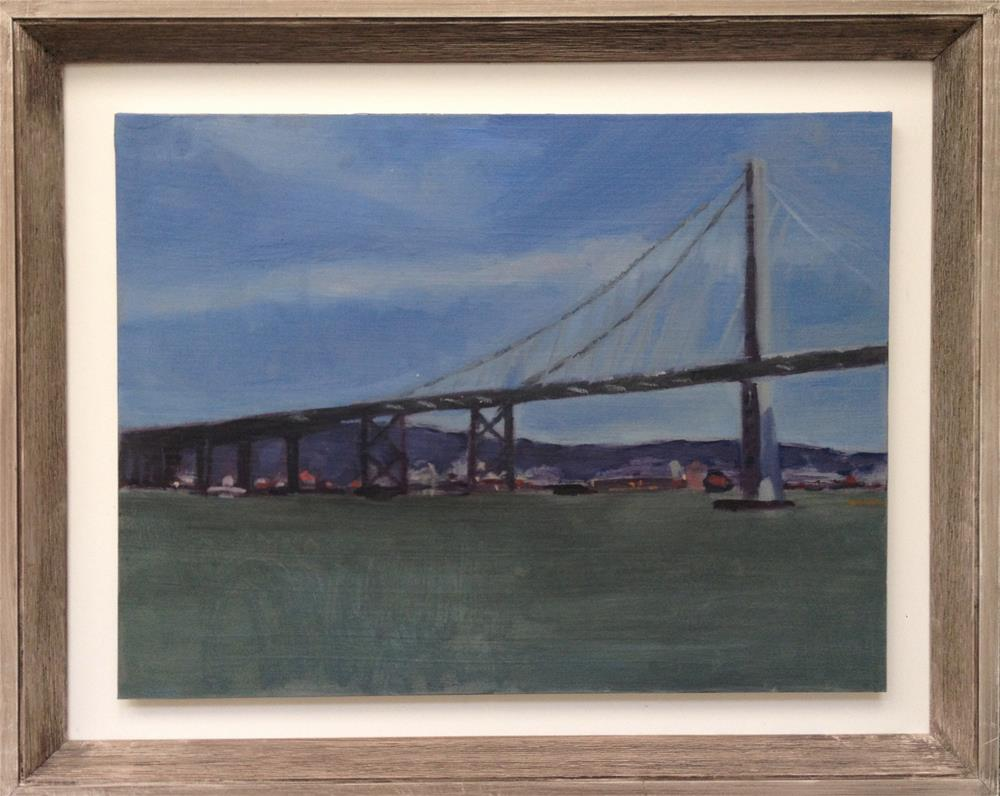 """The Bay Bridge"" original fine art by Allison Rockwell"