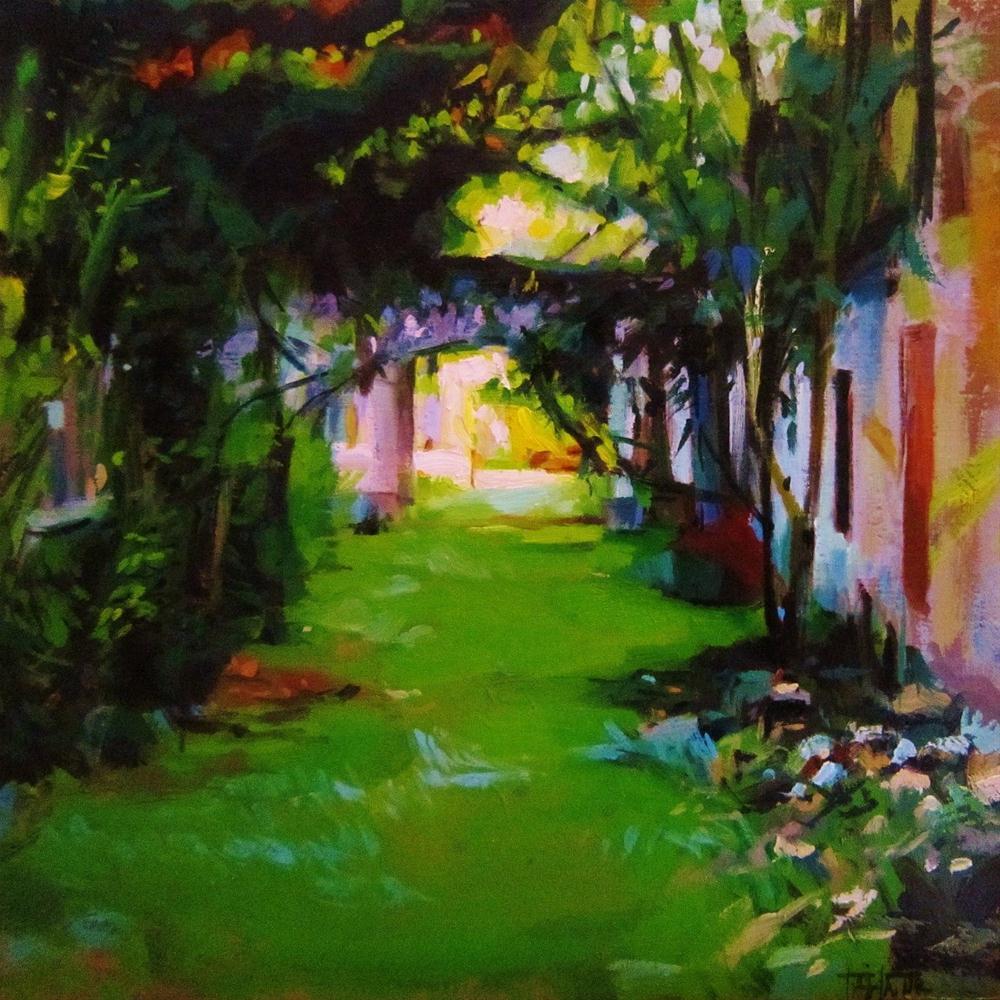 """Abandoned farmhouse"" original fine art by Víctor Tristante"