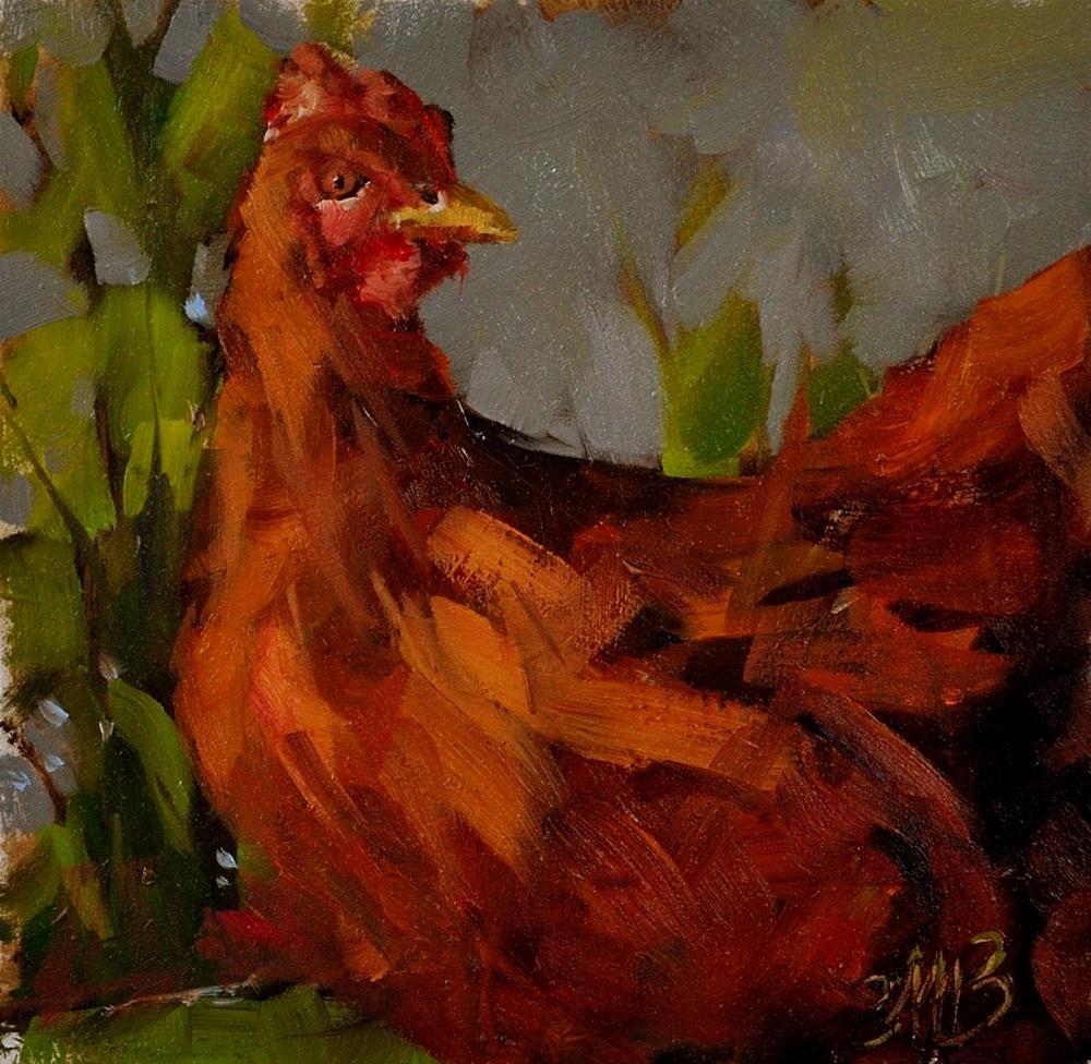 """""""Goldie"""" original fine art by Brienne M Brown"""