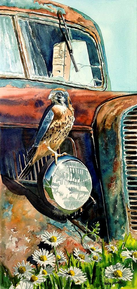 """Kestrel Patina"" original fine art by Andy Sewell"