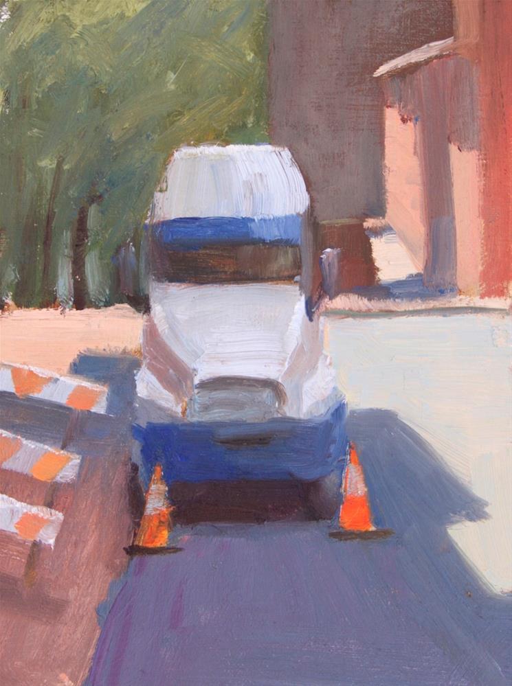 """""""#116 Sidewalk closed"""" original fine art by Nancy Wallace"""