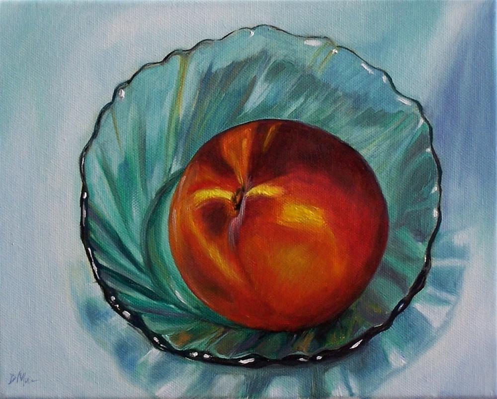 """""""Giant Peach"""" original fine art by Donna Munsch"""