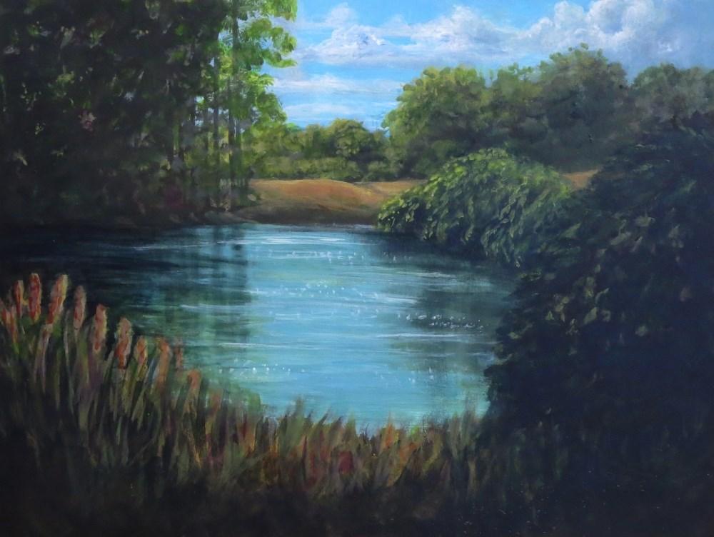 """Color My World - Summer Day (half price)"" original fine art by Elizabeth Elgin"