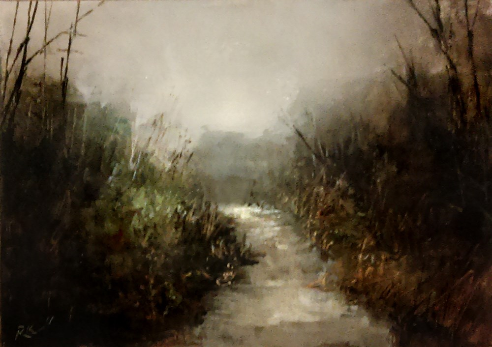 """The River in the Woods"" original fine art by Bob Kimball"