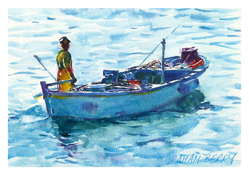 """Heading back"" original fine art by Graham Berry"
