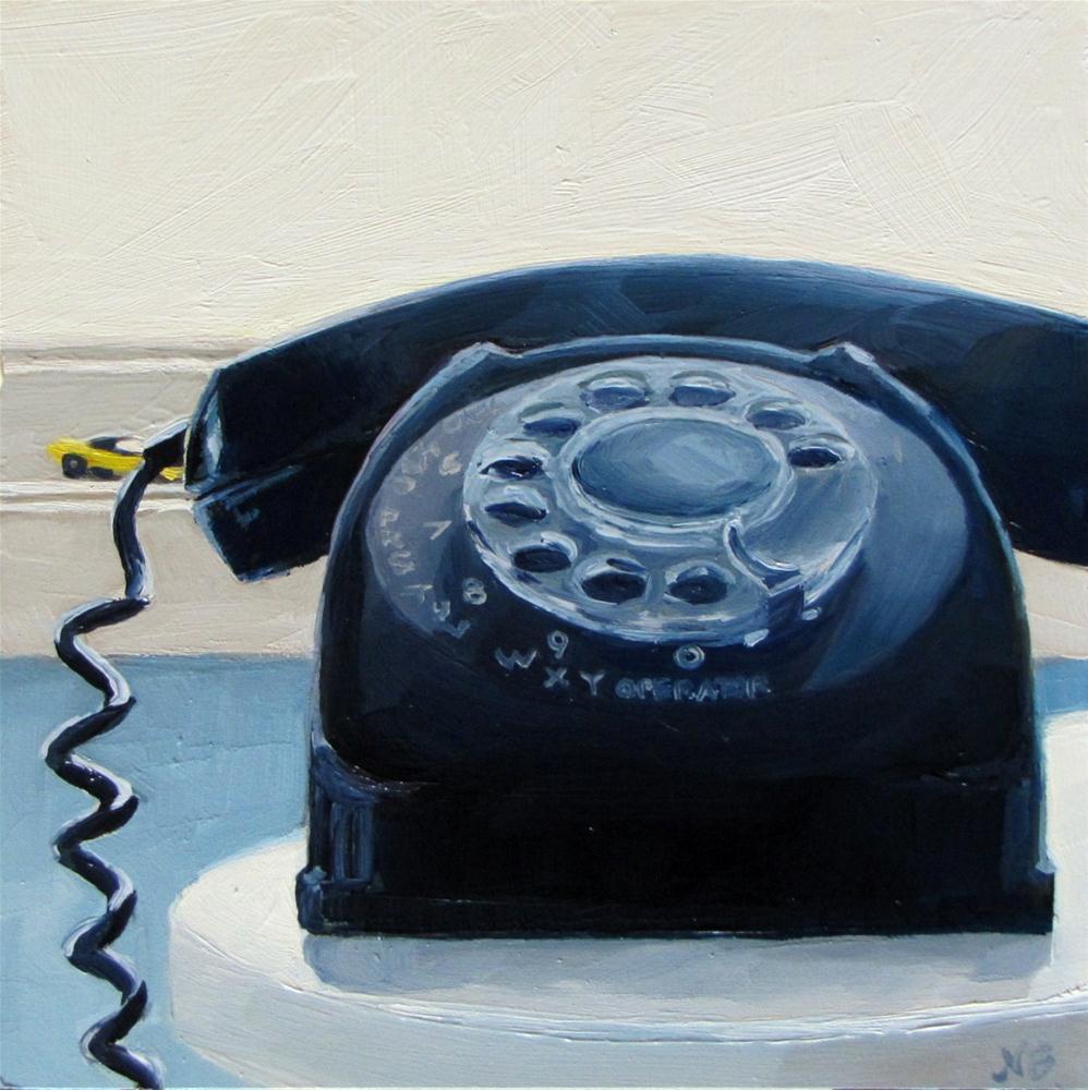 """Rotary Dial Hotwheel"" original fine art by Nora Bergman"