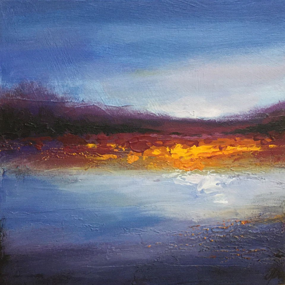 """Abstract Landscape "" original fine art by Jane Palmer"