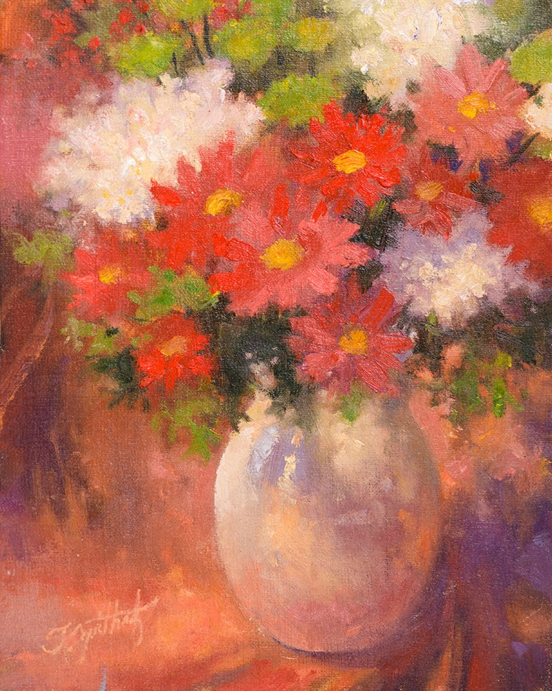 """Red Floral"" original fine art by Todd Zuithof"