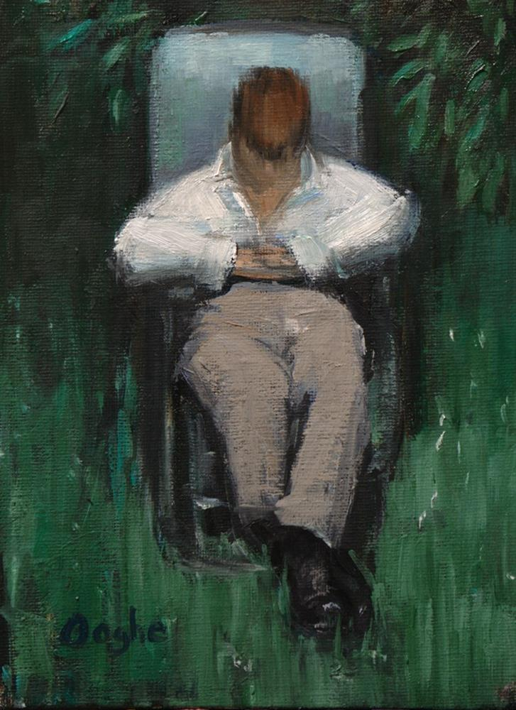 """Resting Man"" original fine art by Angela Ooghe"
