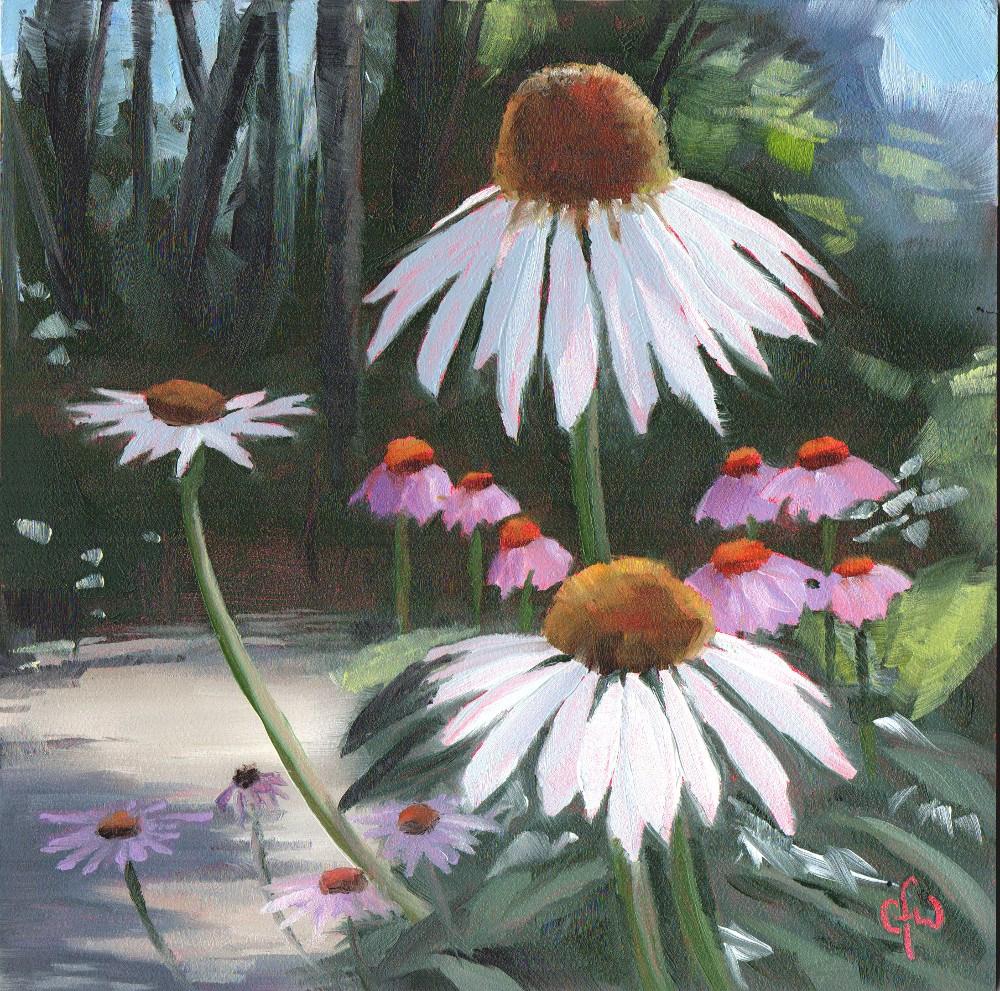 """""""White Coneflowers"""" original fine art by Gary Westlake"""