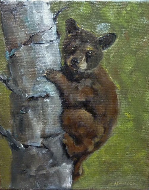 """Little Bear"" original fine art by Helene Adamson"