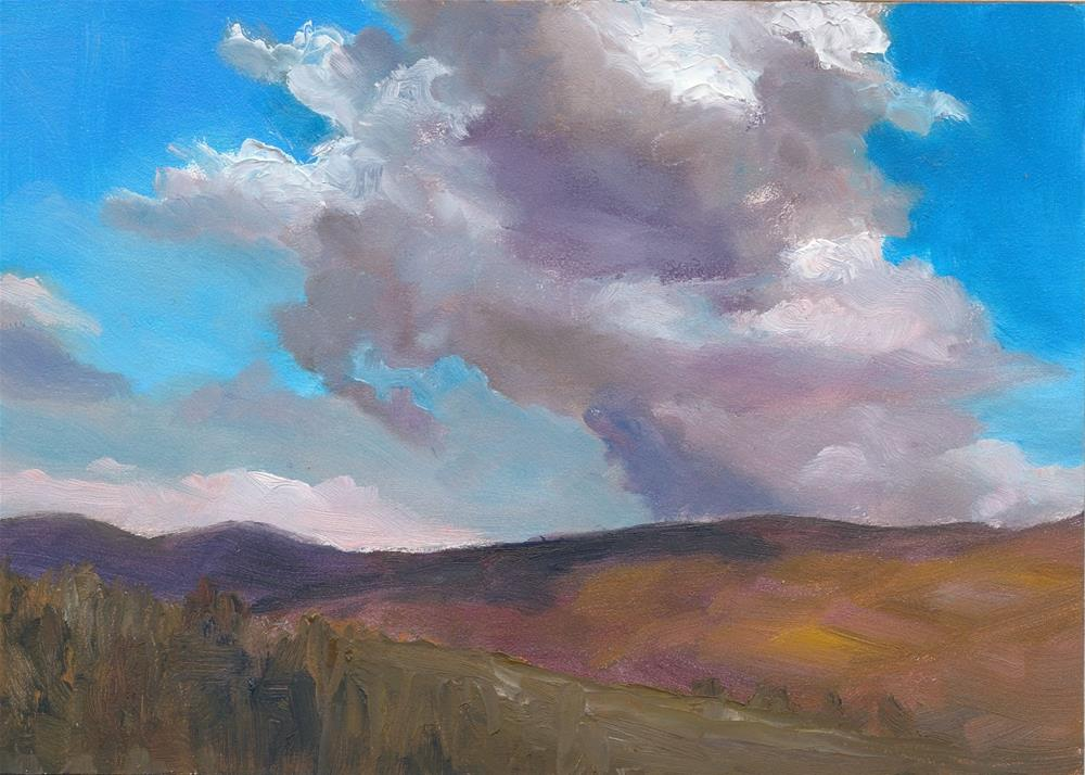 """Cloud Over Heather"" original fine art by Christine Derrick"