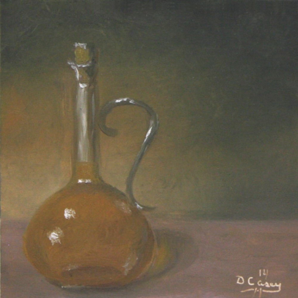 """Kitchen Painting - Olive Oil 001"" original fine art by Dave Casey"