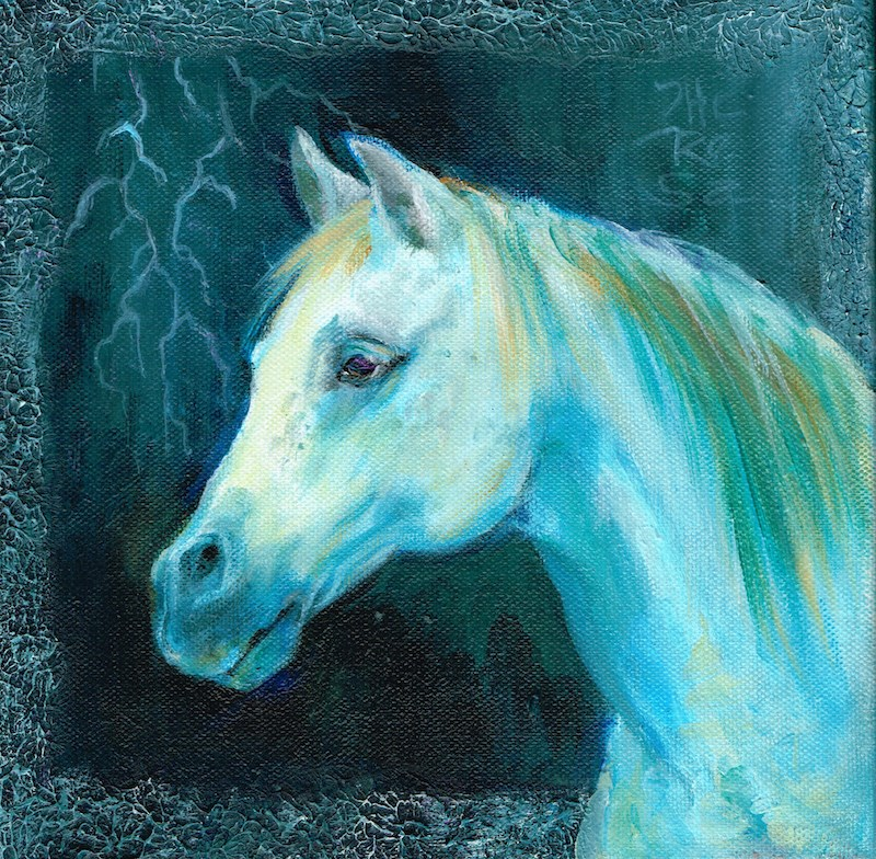 """Stormy"" original fine art by Theresa Taylor Bayer"