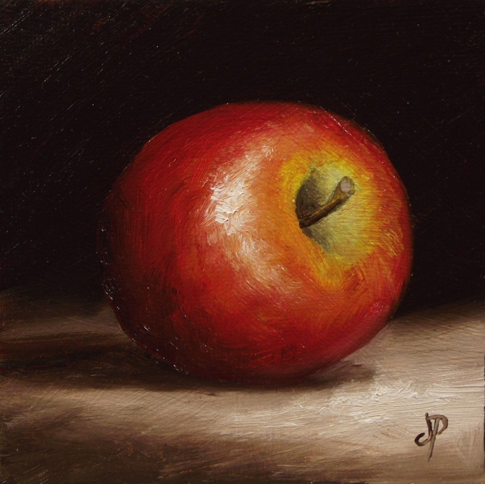 """Little Braeburn Apple #3"" original fine art by Jane Palmer"