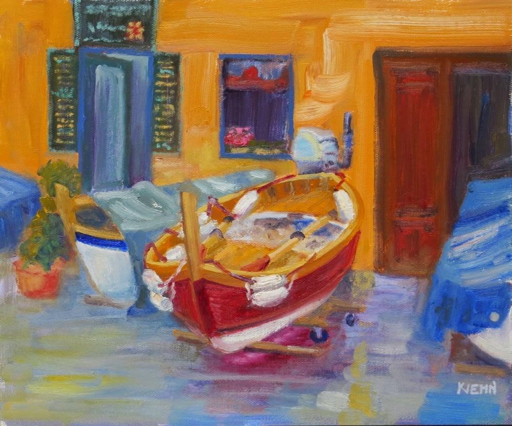 """High and Dry in Manarola"" original fine art by Richard Kiehn"