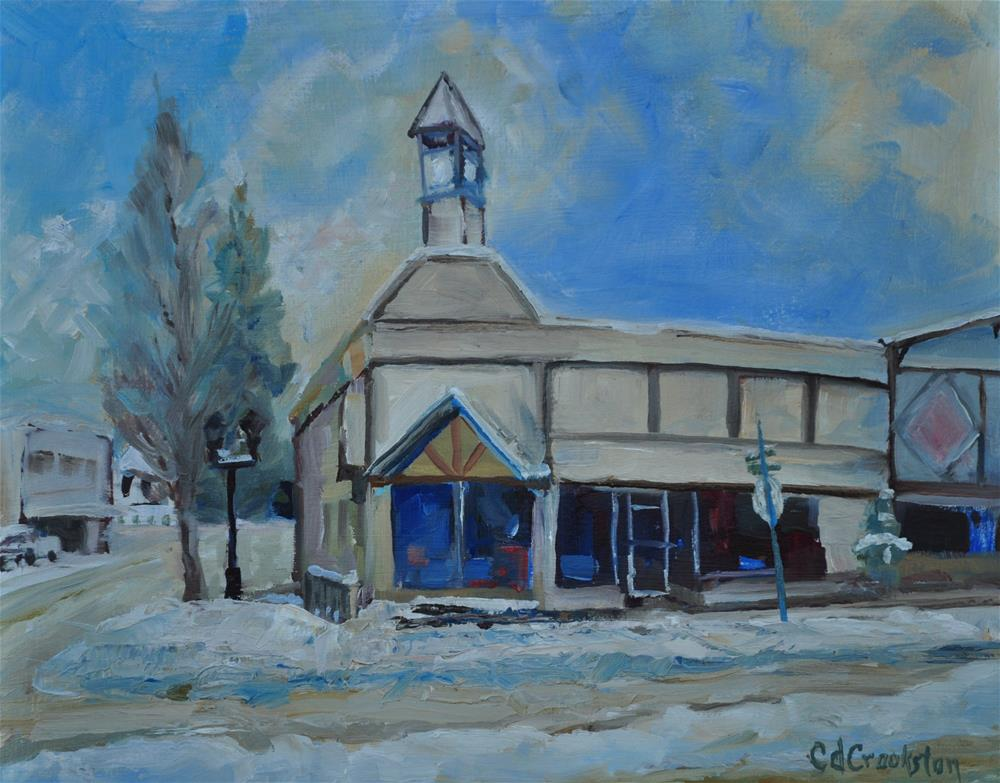 """Winter in Kellogg"" original fine art by Catherine Crookston"