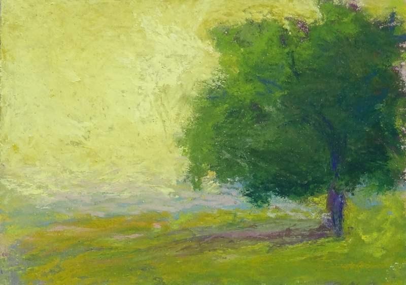 """Lone Tree"" original fine art by Meredith Adler"