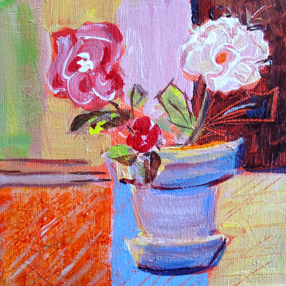 """Blue Pot"" original fine art by Mary Schiros"