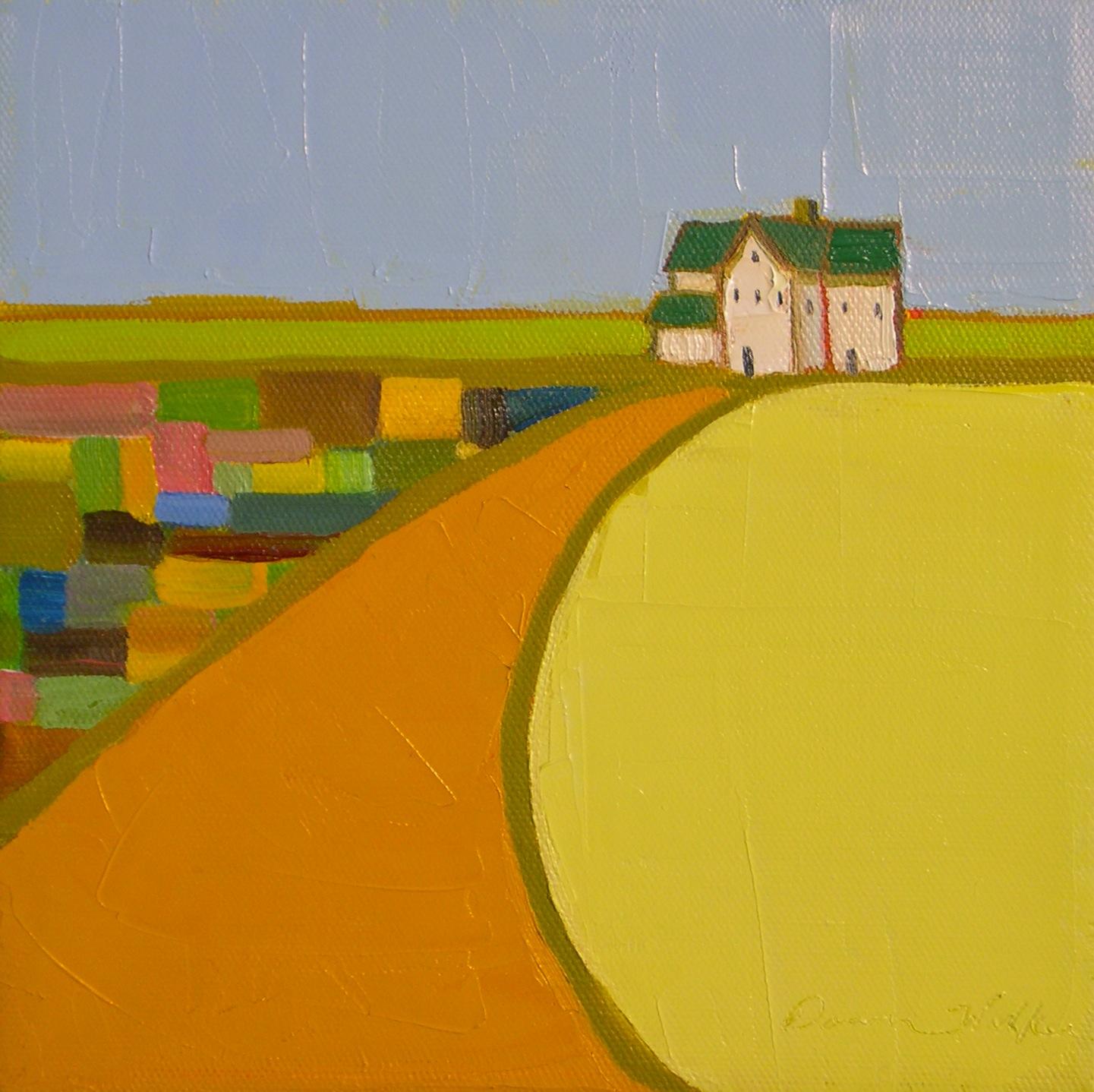 """Quilted Land IV"" original fine art by Donna Walker"