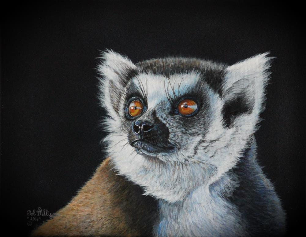 """Amber Eyes"" original fine art by Bob Williams"