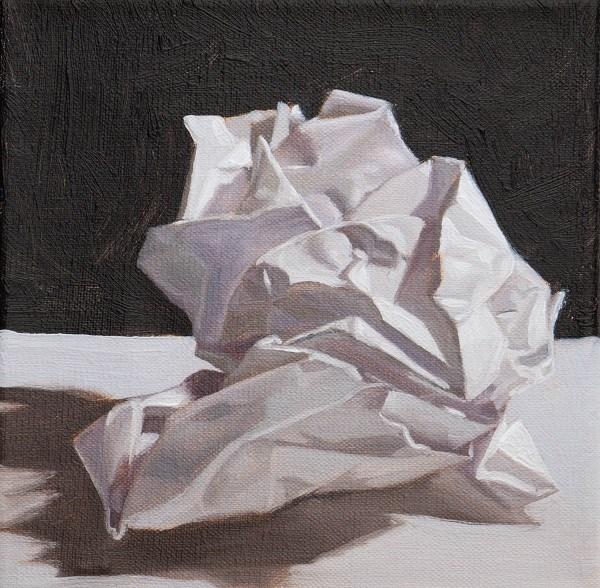 """Crumpled paper"" original fine art by Tim Gier"