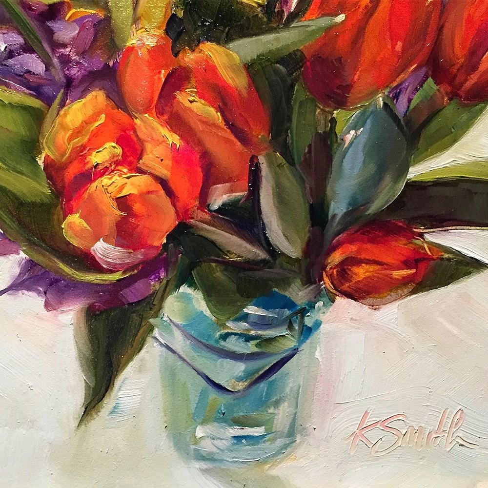 """think spring"" original fine art by Kim Smith"