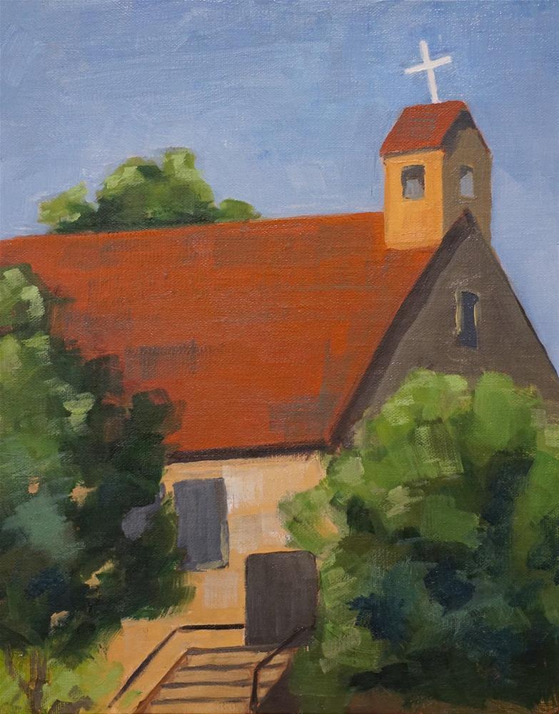 """Castle Rock Church"" original fine art by Catherine Van Berg"