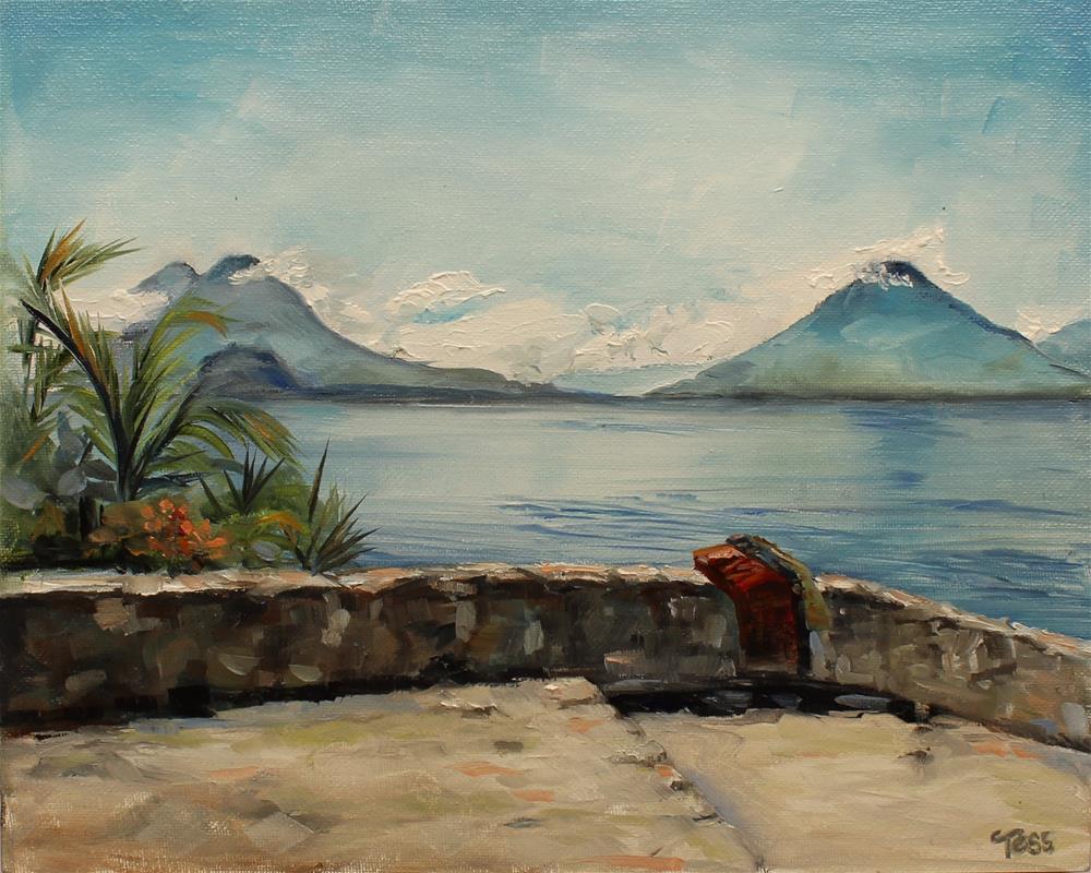 """Lago Atitlan Guatemala"" original fine art by Tess Lehman"