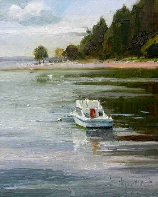 """At Rest  marine oil painting by Robin Weiss"" original fine art by Robin Weiss"