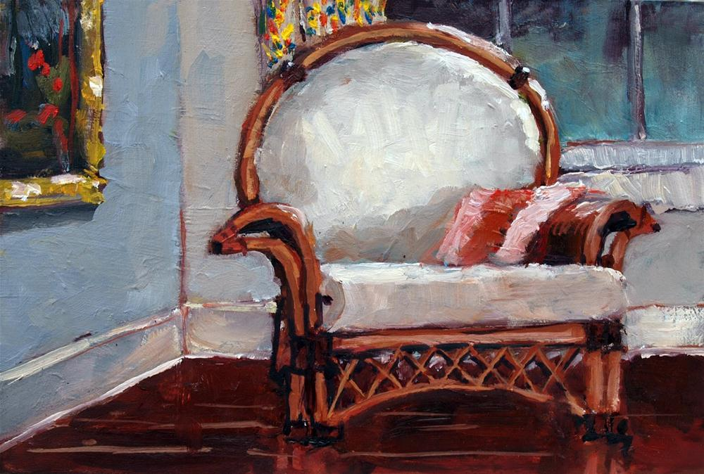 """Rattan Chair"" original fine art by Rick Nilson"