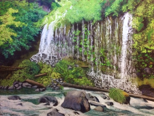 """MOSSBRAE FALLS"" original fine art by Marti Walker"