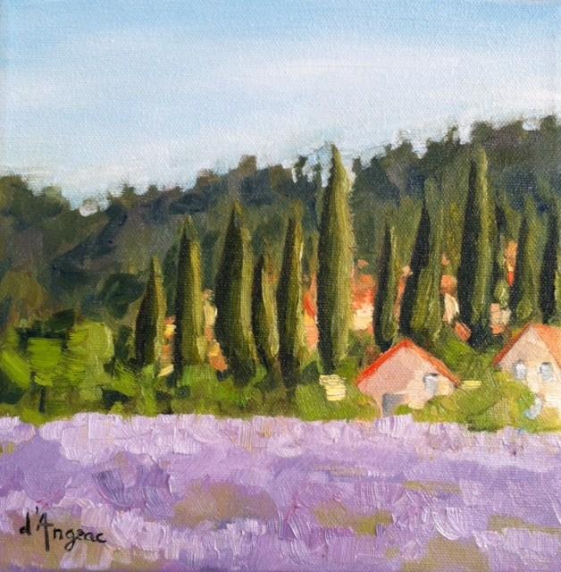 """A Lavender Landscape"" original fine art by Karen D'angeac Mihm"