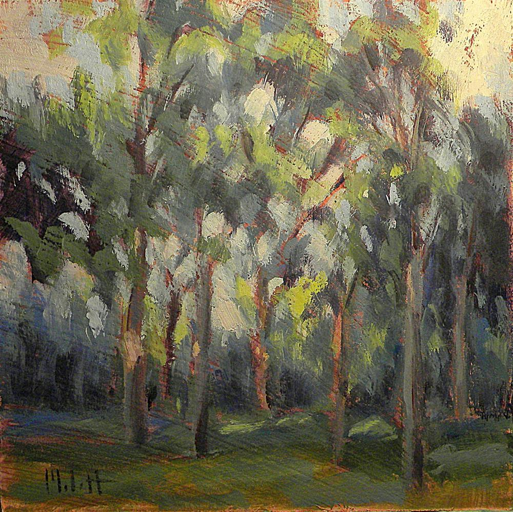 """Morning Light in the Woods Daily Oil Painting"" original fine art by Heidi Malott"