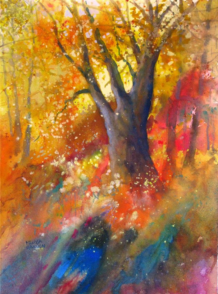 """Enchantment in the woods"" original fine art by Melissa Gannon"