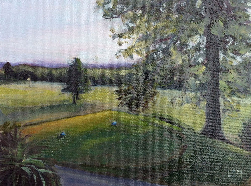 """Grassy Hill Country Club #3"" original fine art by Linda Marino"