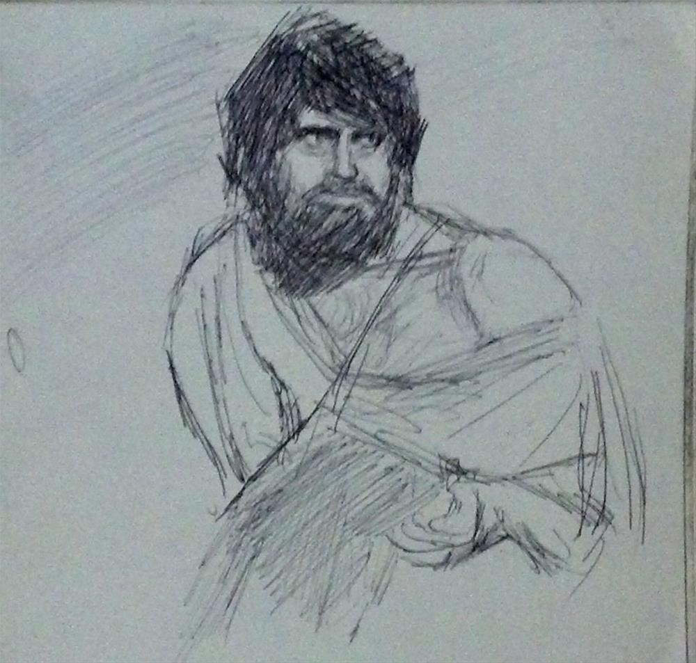 """James Farentino , who played Simon Peter from Jesus of Nazareth , the movie.."" original fine art by Fred Medley"