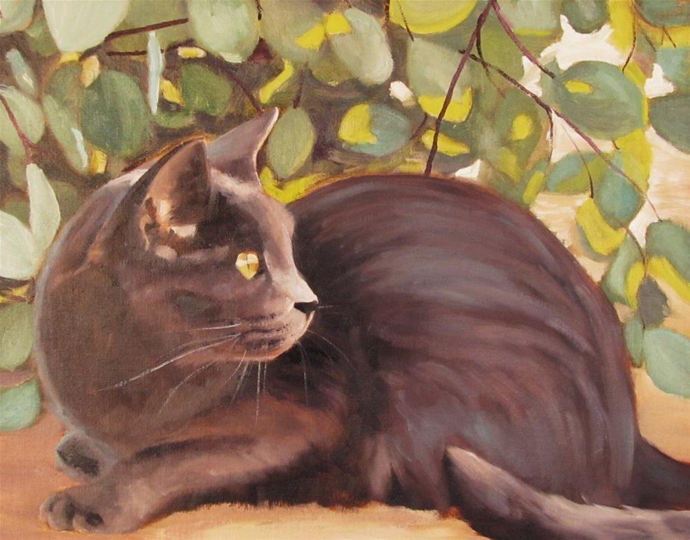 """""""Beneath the Eucalyptus"""" original fine art by Kaia Thomas"""